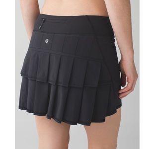 Lululemon pace setter skirt black skort pleated
